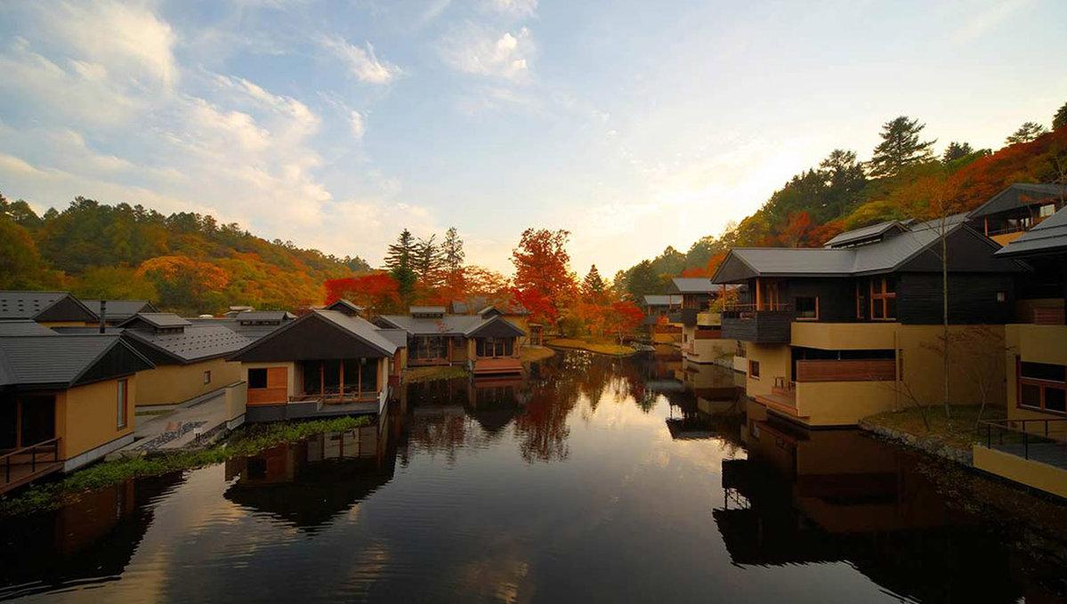 日本风景_轻井泽】在传统日式风格的基础上加入现代设计,在观看日本古老风景的